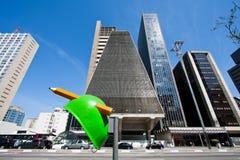 Avenida de Paulista, São Paulo-Brasil imagem de stock royalty free