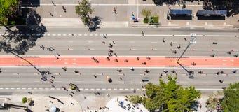 Avenida de Paulista, Sao Paulo, el Brasil fotos de archivo libres de regalías