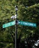 Avenida 1600 de Pensilvânia Fotos de Stock Royalty Free
