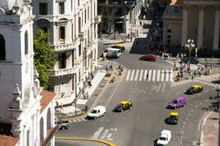 Avenida de Rivadavia Bolivar - Buenos Aires - la Argentina imagen de archivo