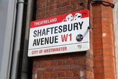 Avenida de Shaftesbury Fotos de archivo libres de regalías