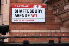 Avenida de Shaftesbury, Londres Fotografía de archivo libre de regalías