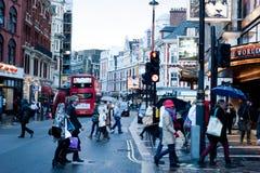 Avenida de Shaftesbury, Soho, Londres Imágenes de archivo libres de regalías