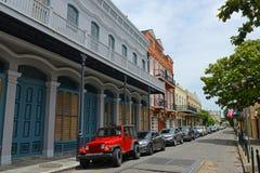 Avenida de Ursulines no bairro francês, Nova Orleães foto de stock royalty free