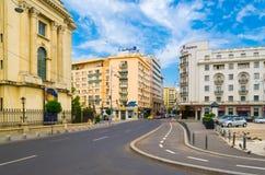 Avenida de Victoriei imagens de stock royalty free