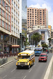 Avenida de Villazon en La Paz, Bolivia Foto de archivo