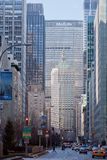Avenida del parque y edificio centrales Nueva York de Metlife imagenes de archivo