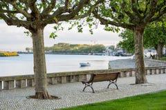 Avenida del río de Vila do Conde Fotografía de archivo libre de regalías