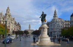 Avenida dos Aliados in Porto Royalty Free Stock Image