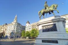 Avenida dos aliados square in porto portugal Stock Photo