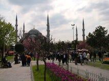 Avenida e mesquita de Sultanahmet fotografia de stock royalty free