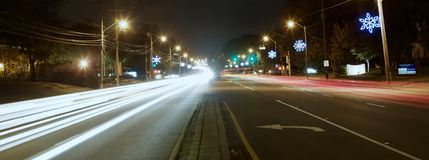 Avenida elétrica do Natal Fotografia de Stock Royalty Free
