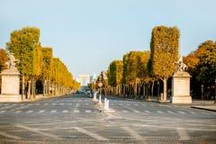 Avenida elísea en París fotografía de archivo