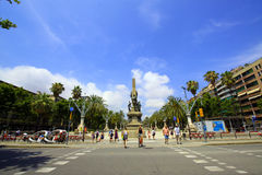 Avenida em Barcelona Imagens de Stock