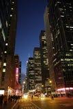 A 6a avenida em New York imagem de stock