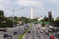 Avenida em Sao Paulo, Brasil Fotografia de Stock