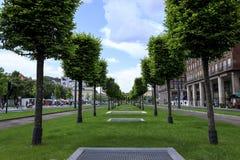 Avenida en Budapest Foto de archivo