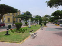 Avenida en el distrito de Barranco de Lima, Perú Imagen de archivo libre de regalías