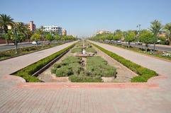 Avenida en Marrakesh Imagen de archivo