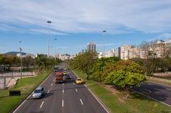Avenida en Rio de Janeiro City Foto de archivo libre de regalías
