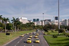 Avenida en Rio de Janeiro City Imágenes de archivo libres de regalías