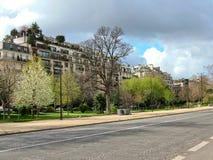 Avenida Foch en París en marzo Imagen de archivo