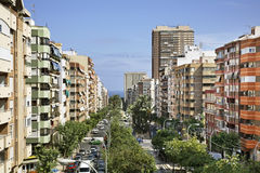Avenida General Marva in Alicante. Spain Royalty Free Stock Image