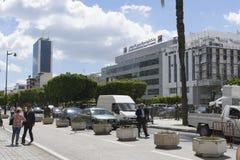 Avenida Habib Bourguiba, Foto de Stock Royalty Free