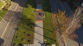 Avenida hermosa desde arriba almacen de metraje de vídeo