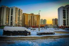 Avenida heroico de Rússia St Petersburg Fotografia de Stock