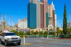 Avenida Las Vegas de Tropicana imagen de archivo