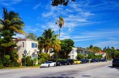 Avenida meridiana de Miami Beach Foto de archivo