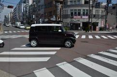 Avenida Nara Japan de Sanjo-dori fotografia de stock