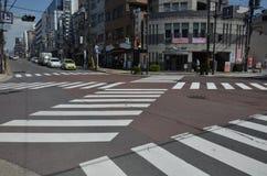 Avenida Nara Japan de Sanjo-dori fotografia de stock royalty free