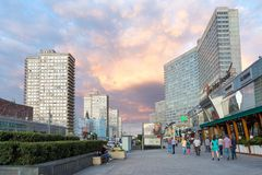 Avenida nova de Arbat moscow Rússia Fotografia de Stock Royalty Free