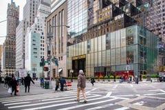 Avenida NYC da torre do trunfo quinta fotografia de stock