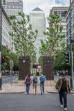 Avenida ocidental da Índia, Canary Wharf, Londres Imagens de Stock