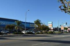 Avenida ocidental de Los Angeles da alameda de Koreatown Imagens de Stock