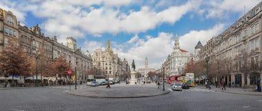 A avenida ocupada de Aliados foto de stock royalty free