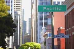 Avenida pacífica San Francisco CA Imagem de Stock Royalty Free