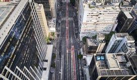 Avenida Paulista στην πόλη του Σάο Πάολο, Βραζιλία στοκ εικόνα με δικαίωμα ελεύθερης χρήσης