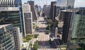 Avenida Paulista Paulista avenue, Sao Paulo city, Brazil stock photos