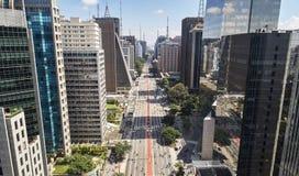 Avenida Paulista Paulista avenue, Sao Paulo city, Brazil. Aerial view of Avenida Paulista Paulista avenue in Sao Paulo city, Brazil stock photos
