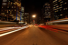 Avenida Paulista night traffic rush Royalty Free Stock Photos