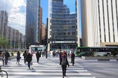 Avenida Paulista, Sao Paulo Arkivfoton