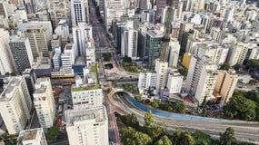 Avenida Paulista w Sao Paulo mieście, Brazylia zdjęcie royalty free