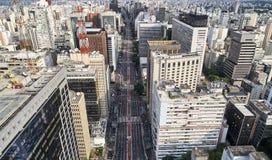 Avenida Paulista w Sao Paulo mieście, Brazylia obrazy royalty free