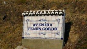 Avenida Penon Gordo Fotografia Stock Libera da Diritti