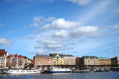 Avenida prestigiosa en Estocolmo fotos de archivo libres de regalías