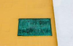 Avenida Ramos Porto Portugalia Łaciaty znak uliczny Zdjęcia Royalty Free